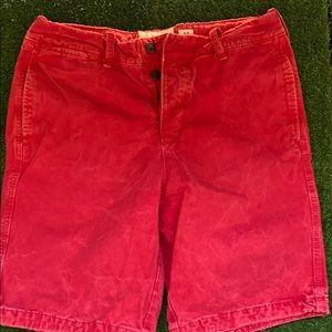 Abercrombie & Fitch Red Soft Shorts